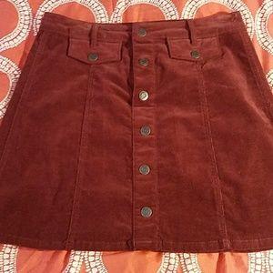Rust colored cordoroy skirt